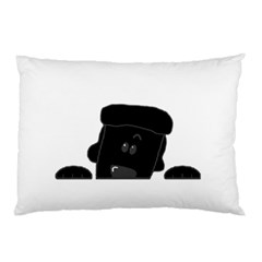 Peeping Black  Poodle Pillow Cases (Two Sides)