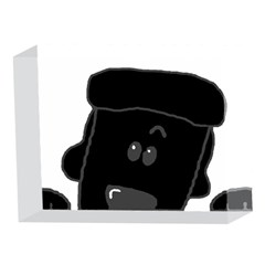 Peeping Black  Poodle 5 x 7  Acrylic Photo Blocks