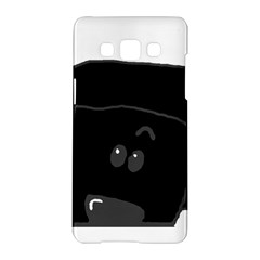 Peeping Black  Poodle Samsung Galaxy A5 Hardshell Case