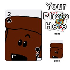 Peeping Chocolate Poodle Playing Cards 54 Designs