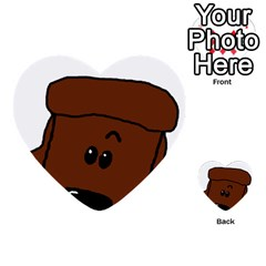 Peeping Chocolate Poodle Multi-purpose Cards (Heart)