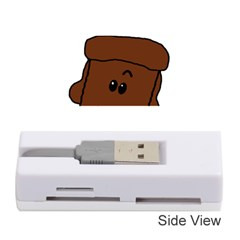 Peeping Chocolate Poodle Memory Card Reader (Stick)