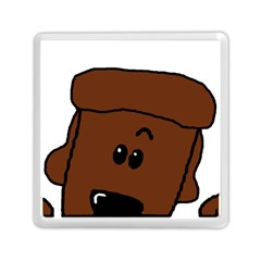Peeping Chocolate Poodle Memory Card Reader (Square)