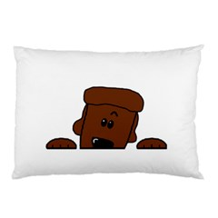 Peeping Chocolate Poodle Pillow Cases (Two Sides)