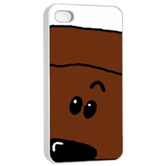 Peeping Chocolate Poodle Apple iPhone 4/4s Seamless Case (White)