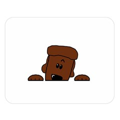 Peeping Chocolate Poodle Double Sided Flano Blanket (Large)