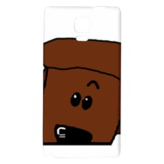 Peeping Chocolate Poodle Galaxy Note 4 Back Case