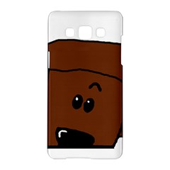 Peeping Chocolate Poodle Samsung Galaxy A5 Hardshell Case
