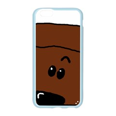 Peeping Chocolate Poodle Apple Seamless iPhone 6 Case (Color)
