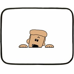 Peeping Peach Poodle Fleece Blanket (mini)