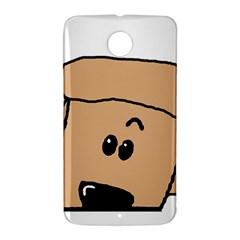 Peeping Peach Poodle Nexus 6 Case (White)