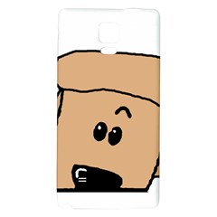 Peeping Peach Poodle Galaxy Note 4 Back Case