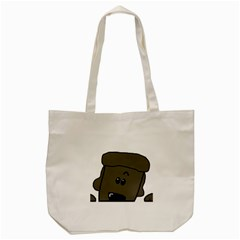 Peeping Silver  Poodle Tote Bag (Cream)