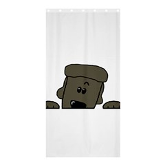 Peeping Silver  Poodle Shower Curtain 36  x 72  (Stall)