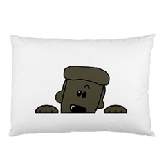 Peeping Silver  Poodle Pillow Cases (Two Sides)