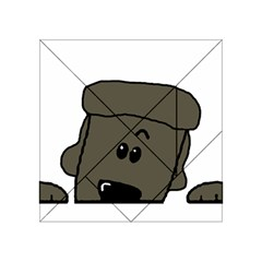 Peeping Silver  Poodle Acrylic Tangram Puzzle (4  x 4 )