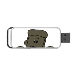 Peeping Silver  Poodle Portable USB Flash (Two Sides)