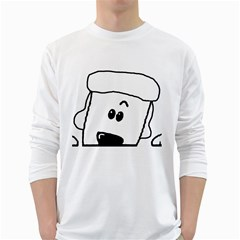 Peeping White Poodle White Long Sleeve T-Shirts