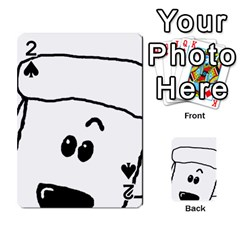 Peeping White Poodle Playing Cards 54 Designs