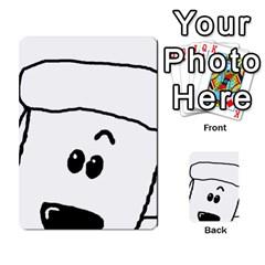 Peeping White Poodle Multi-purpose Cards (Rectangle)