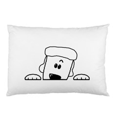 Peeping White Poodle Pillow Cases