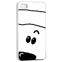 Peeping White Poodle Apple iPhone 4/4s Seamless Case (White)