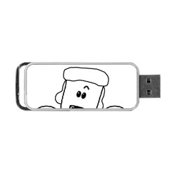 Peeping White Poodle Portable USB Flash (Two Sides)