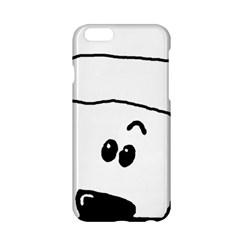 Peeping White Poodle Apple iPhone 6/6S Hardshell Case