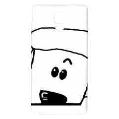 Peeping White Poodle Galaxy Note 4 Back Case
