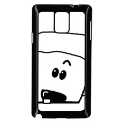 Peeping White Poodle Samsung Galaxy Note 4 Case (black)