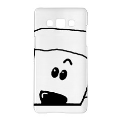 Peeping White Poodle Samsung Galaxy A5 Hardshell Case