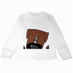 Peeping Boxer Kids Long Sleeve T-Shirts