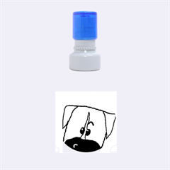 Peeping Boxer Rubber Round Stamps (Small)