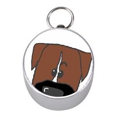 Peeping Boxer Mini Silver Compasses