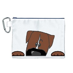 Peeping Boxer Canvas Cosmetic Bag (L)