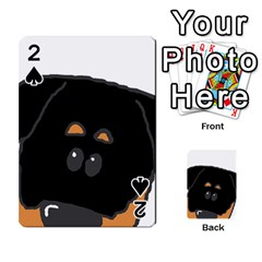 Peeping Rottweiler Playing Cards 54 Designs