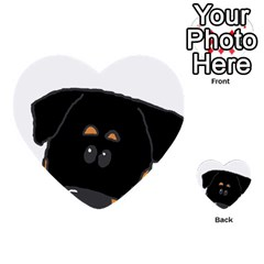 Peeping Rottweiler Multi-purpose Cards (Heart)