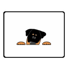 Peeping Rottweiler Fleece Blanket (Small)