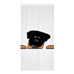 Peeping Rottweiler Shower Curtain 36  x 72  (Stall)