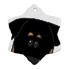 Peeping Rottweiler Snowflake Ornament (2-Side)