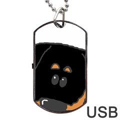 Peeping Rottweiler Dog Tag Usb Flash (two Sides)