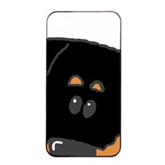 Peeping Rottweiler Apple iPhone 4/4s Seamless Case (Black)
