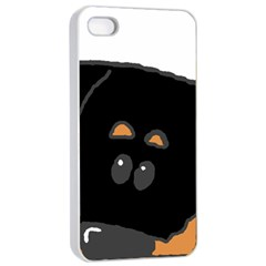 Peeping Rottweiler Apple iPhone 4/4s Seamless Case (White)