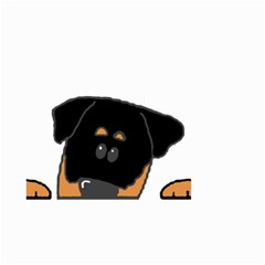 Peeping Rottweiler Small Garden Flag (Two Sides)