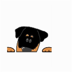 Peeping Rottweiler Large Garden Flag (Two Sides)