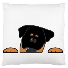 Peeping Rottweiler Standard Flano Cushion Cases (one Side)