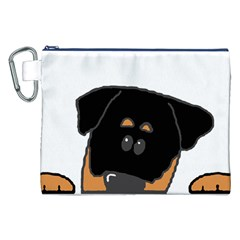 Peeping Rottweiler Canvas Cosmetic Bag (XXL)