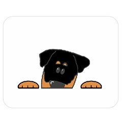 Peeping Rottweiler Double Sided Flano Blanket (Medium)