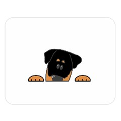 Peeping Rottweiler Double Sided Flano Blanket (Large)