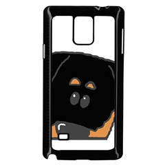 Peeping Rottweiler Samsung Galaxy Note 4 Case (Black)